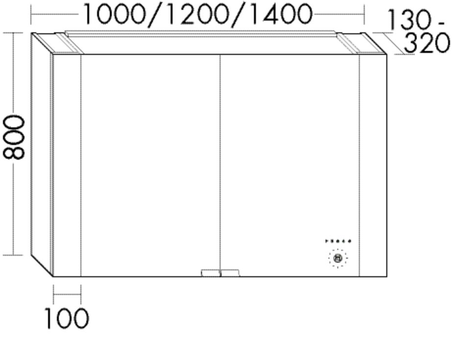 Image of Burgbad Spiegelschrank RL40 HGL/Echtholz 800x1200x130-320 Eiche Mahagonirot, SS258_BR1200LF4904 SS258_BR1200LF4904